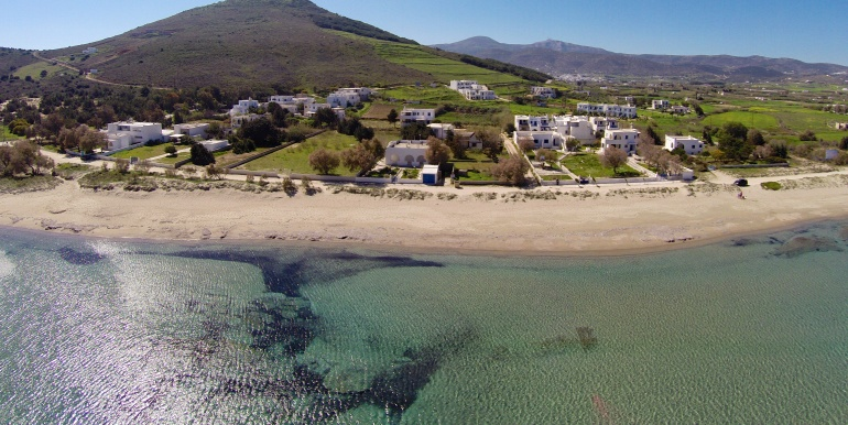 Beach front land for sale in Paros Greece